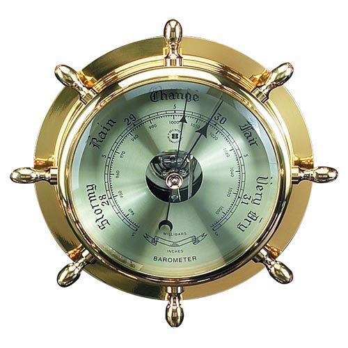 Brass Ship Wheel Barometer by Bey Berk