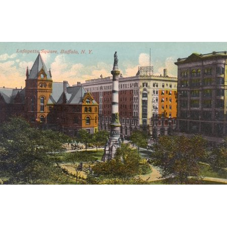 Lafayette Square Buffalo New York State Usa Poster Print By Mary Evans  Grenville Collins Postcard Collection