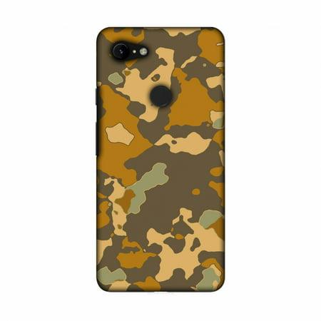 Google Pixel 3 XL Case, Amzer Ultra Thin Designer Hard Shell Case Back Cover for Google Pixel 3 XL [6.3 Inch, 2018 Release] - Camou- Asda orange and bistre brown - Asda Halloween Cake Cases