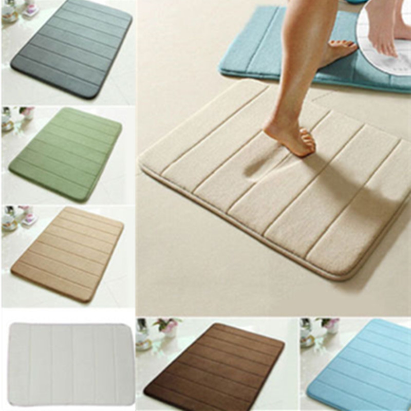 "24""x16"" Memory Foam Rug Bath Mat Bathroom Bedroom Non-slip Mats Shower Carpet"