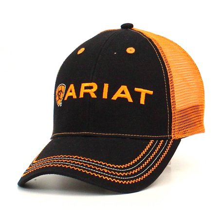Ariat Accessories Men's Rumblin Logo Cap OS Black/Orange ()