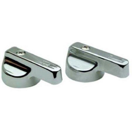Metal Canopy Handle (BrassCraft Metal Canopy Chrome Lavatory/Sink Handles - Streamway, 1 pair)