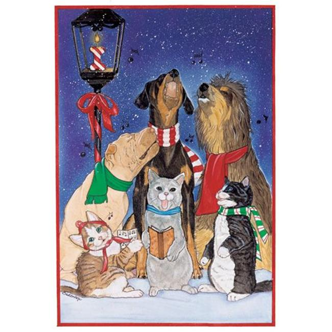 Pipsqueak Productions C825 Mix Dog With Cat Holiday Boxed Cards