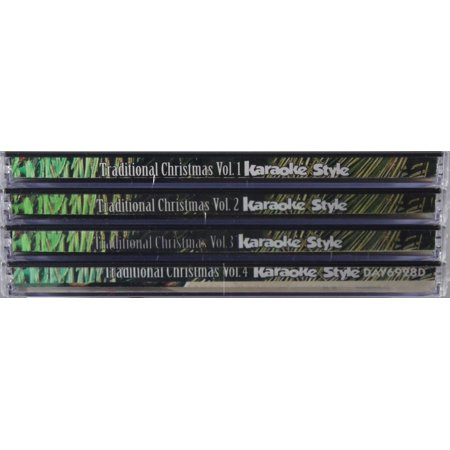 Christmas Karaoke Cd.Traditional Christmas Karaoke Volumes 1 4 Cd Set