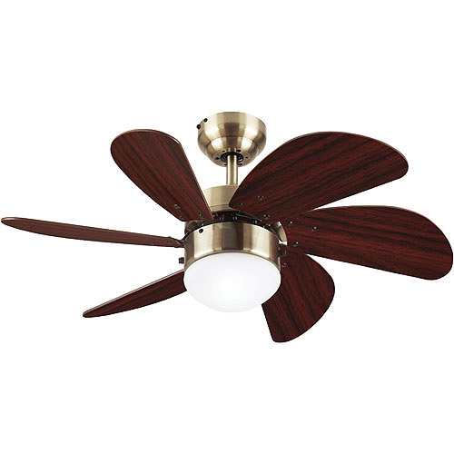Westinghouse 30'' Turbo Swirl Ceiling Fan/Lamp, Antique Brass