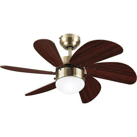 Westinghouse 30 Turbo Swirl Ceiling Fan Lamp Antique Brass Walmart Com