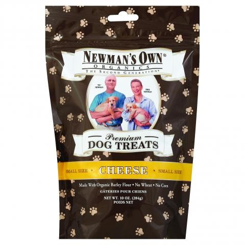 Newman's Own Organics Premium Dog Treats, Cheese, Small Size, 10 Ounce Bags