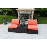 Bellini Home and Gardens Teana Wicker 3 Piece Deep Seating Set