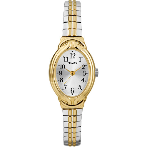 Timex Women's Greenmount Terrace Watch, Two-Tone Stainless Steel Expansion Band by Timex