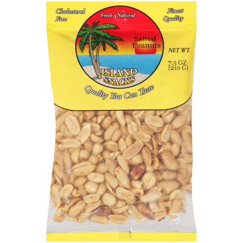Island Snacks Salted Peanuts, 8 oz