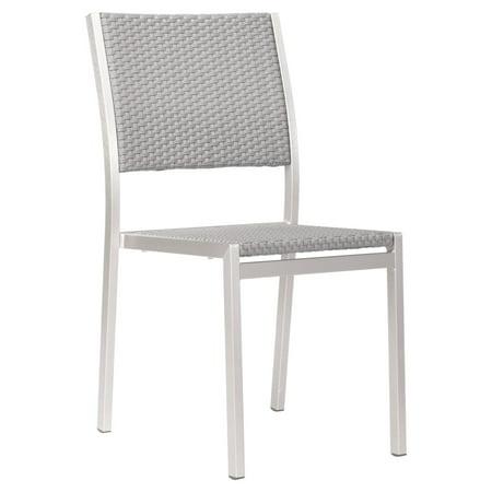 Zuo Vive Metropolitan Aluminum Dining Armless Chair - Set of 2 ()