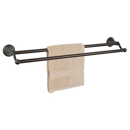 - Dynasty Hardware Bay Hill Double 24'' Wall Mounted Towel Bar