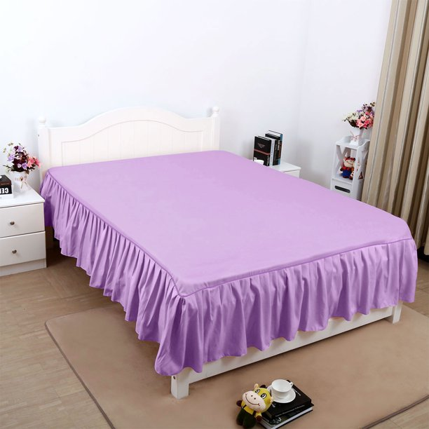 Solid Polyester Bed Dust Ruffle