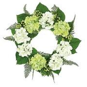 Northlight Seasonal Hydrangea and Berry Artificial Floral 24'' PE/Fabric/Foam Wreath