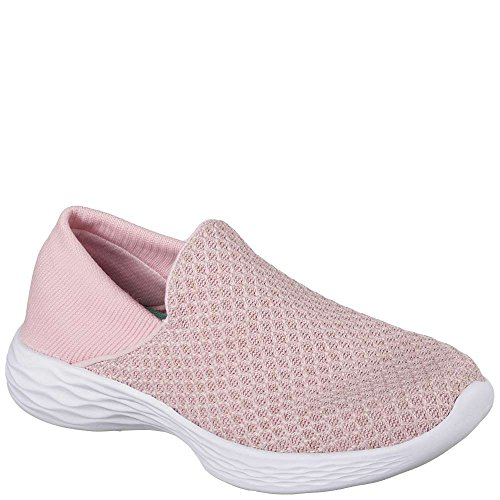 Skechers Kids Womens You 81158L (Little Kid/Big Kid) Pink Smooth/Mesh/Pink/Hot Pink Trim 13 Little Kid M