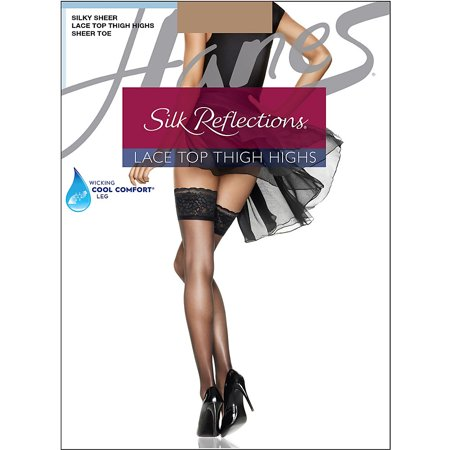 Silk Reflections Womens Lace Top Thigh -