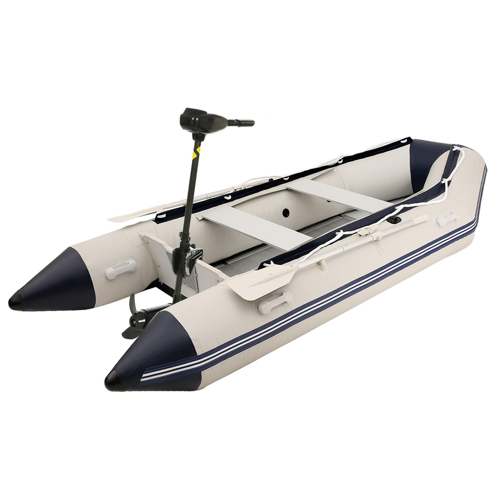 12V 50-Pound Thrust Saltwater Transom Mounted Outboard Bo...