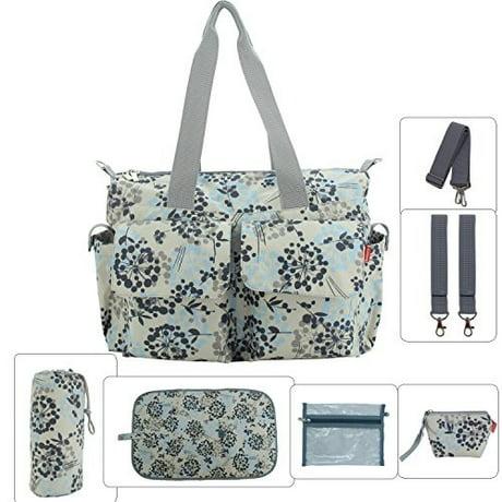 Damero Floral Designer Diaper Tote Bags (Dandelion) 4ed05205d075e