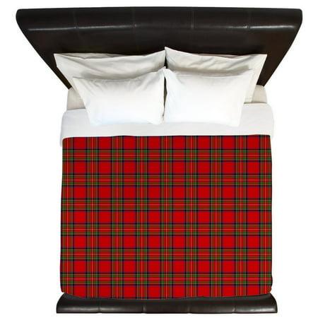 CafePress - Royal Stewart Tartan - King Duvet Cover, Printed Comforter Cover, Unique Bedding, Microfiber