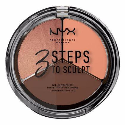 NYX 3 Steps Face Sculpting Palette - Deep - #3STS04 for $<!---->