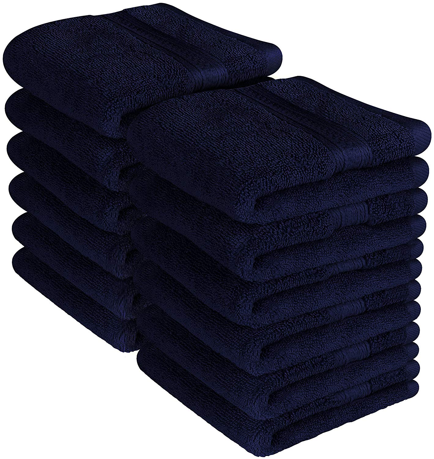Premium 700 GSM Washcloths Towels Set 12 Pack, Navy Blue, 12 x 12 Inches Multipurpose Extra Soft Fingertip... by Beauty Threadz