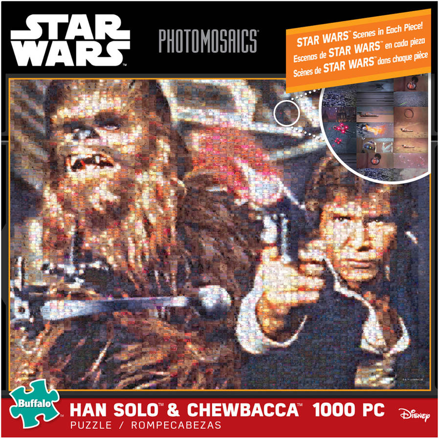 Star Wars Photomosaics Puzzle, Han Solo & Chewbacca, 1000 Pieces