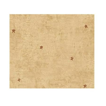 Diamond Toss Wallpaper - Warner HAH16073 Heritage Star Toss Wallpaper, Carmel