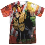Judge Dredd 2000 AD Police Comic Book Under Attack Adult Front Print T-Shirt