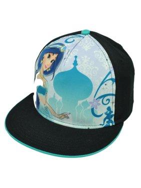 9cdfd142f06 Product Image Jasmine Disney Princess Movie Aladdin Snapback Flat Bill Cartoon  Hat Cap Black