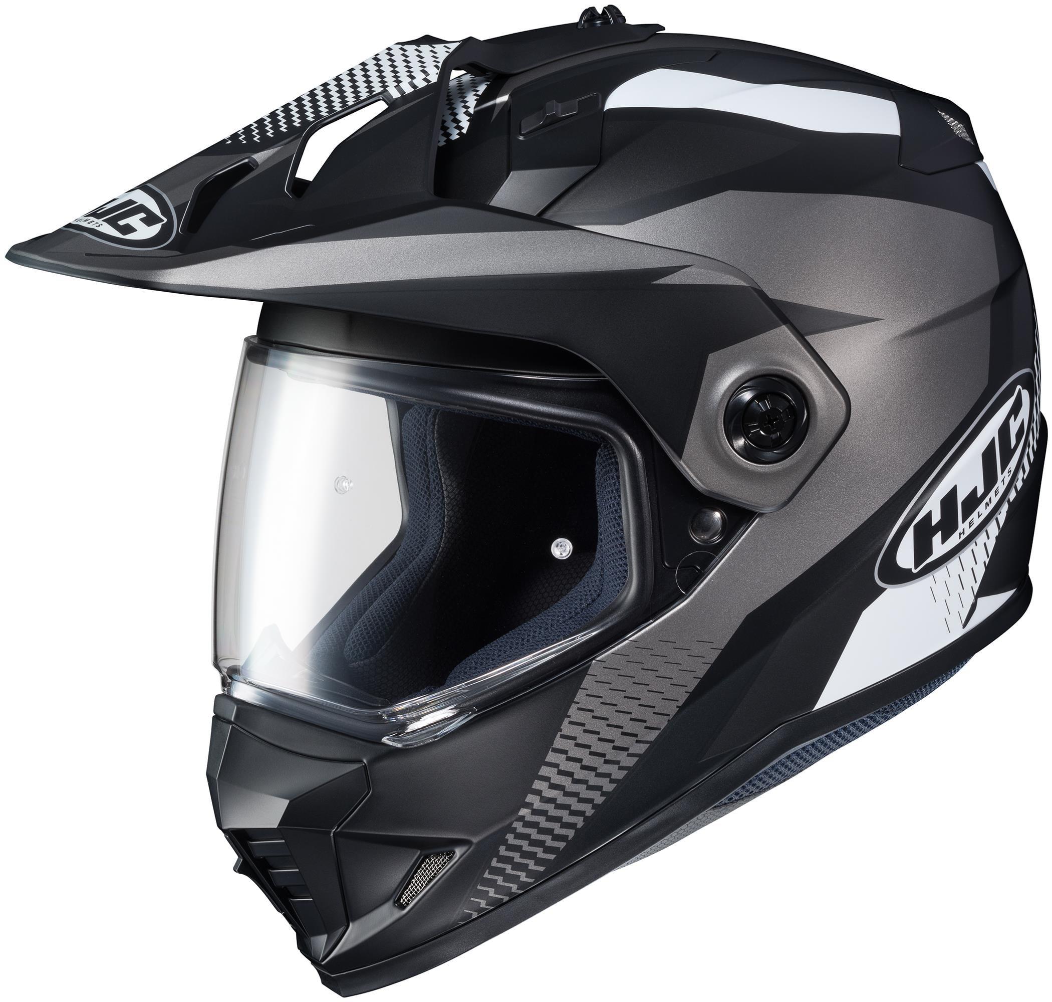 HJC DS-X1 Awing Helmet Semi-Flat Black (MC-5SF) (Black, X-Large)