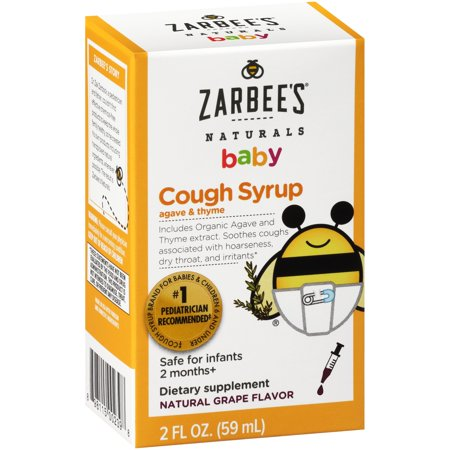 Zarbee S 174 Naturals Baby Cough Syrup Grape 2 Fl Oz Box