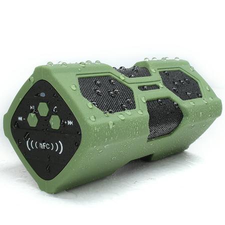 Portable Powered Loudspeaker - 3600mAh Waterproof NFC Wireless bluetooth Speaker, Portable Shockproof Loudspeaker, Can be Power Bank