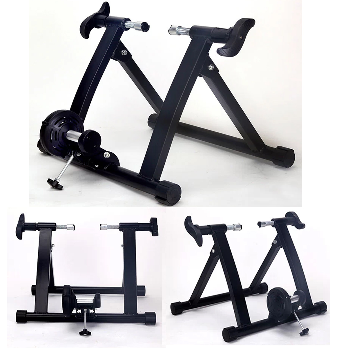 Foldable Indoor Bike Trainer Portable Exercise Bicycle Magnetic Training Stand