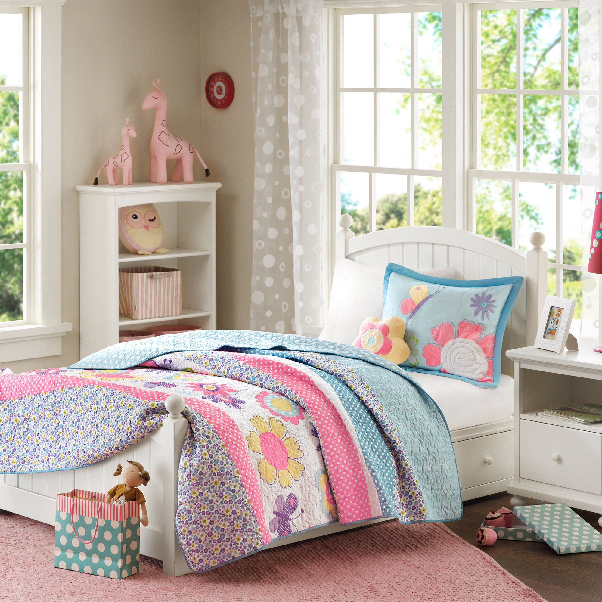 innovative toddler girl bedroom sets | Home Essence Kids Petal Power Floral Coverlet Bedding Set ...