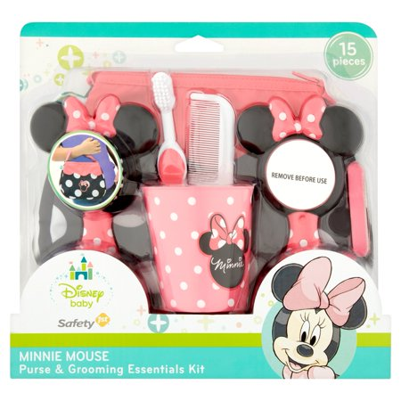 Safety 1st Disney Baby 15 Pieces Minnie Mouse Purse & Grooming Essentials Kit