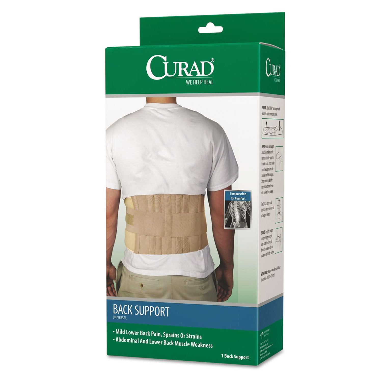 Curad Universal Back Support One Size Fits Most
