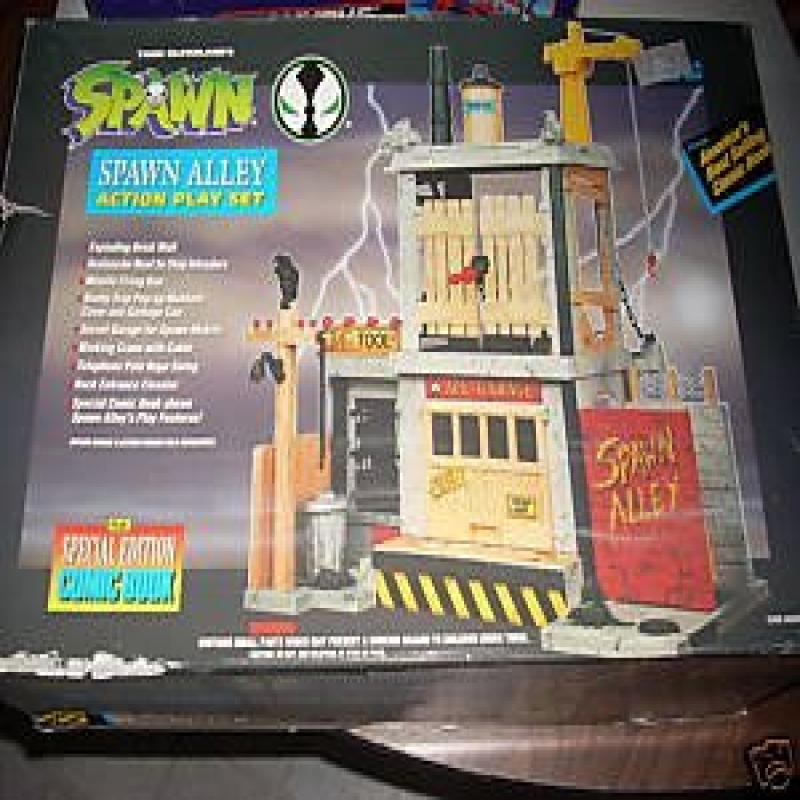 Todd Mcfarlane's Spawn Alley Action Figure Playset w  Special Edition Comic Book (1994) Boxed Set by Spawn
