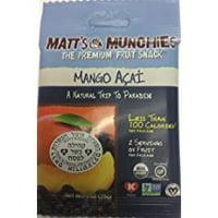 Matt's Munchies The Premium Fruit Snack Mango Acai 1 Oz. Pack Of 3.
