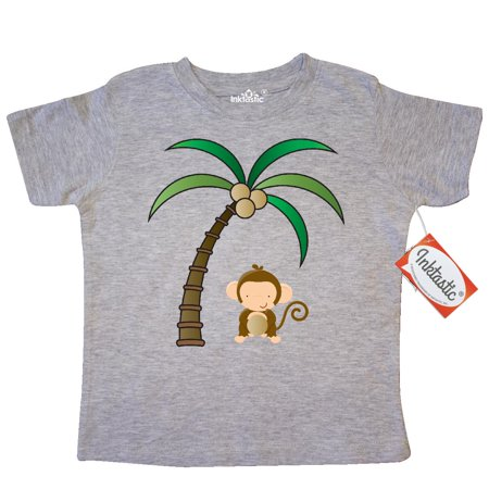 Inktastic Monkey And Coconuts Toddler T Shirt Lover Coconut Jungle Kids Palm Tree Cute Animal Animals Pets Funny Tees  Gift Child Preschooler Kid Clothing Apparel Hws