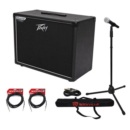 peavey 112 6 extension guitar cabinet w 12 speaker mic stand case guitar cable. Black Bedroom Furniture Sets. Home Design Ideas