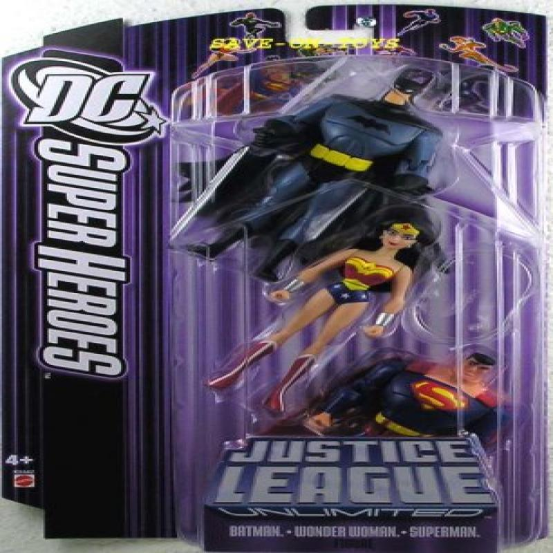 DC Super Heroes Justice League Unlimited Action Figure 3-Pack with Batman, Wo... by