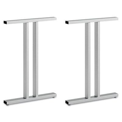 Leg Kit Freestanding Dog Leg Desk Momentum  Silver Bsh342tlegsv03