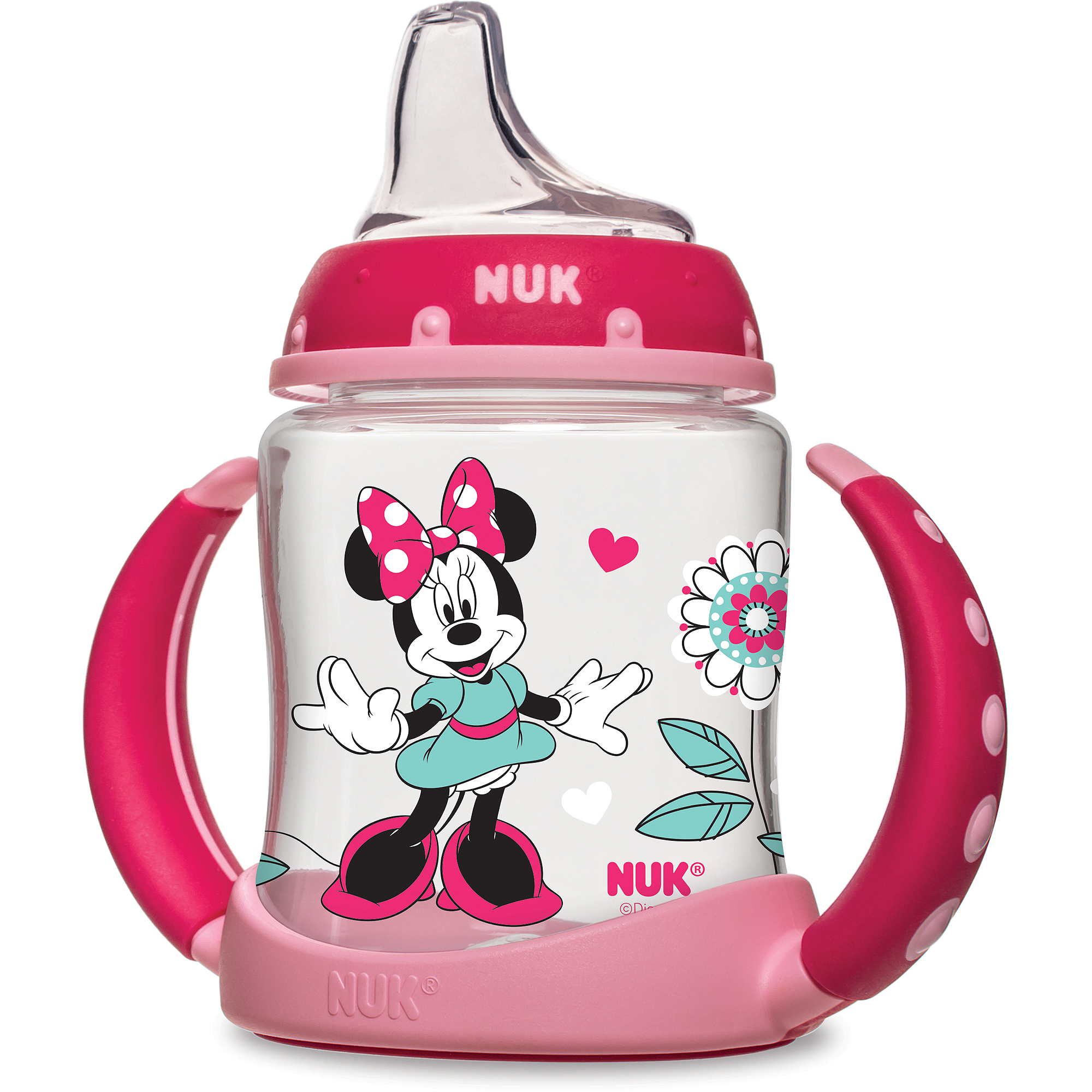 NUK Disney Minnie Mouse 5-oz Learner Cup, 1-Pack, Silicone Spout, BPA-Free