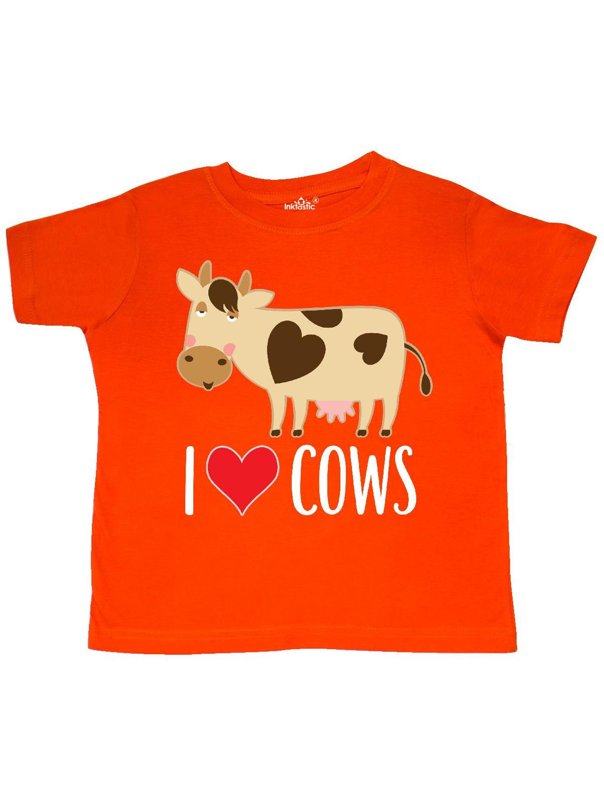 I Love Cows Dairy Farmer Toddler T-Shirt