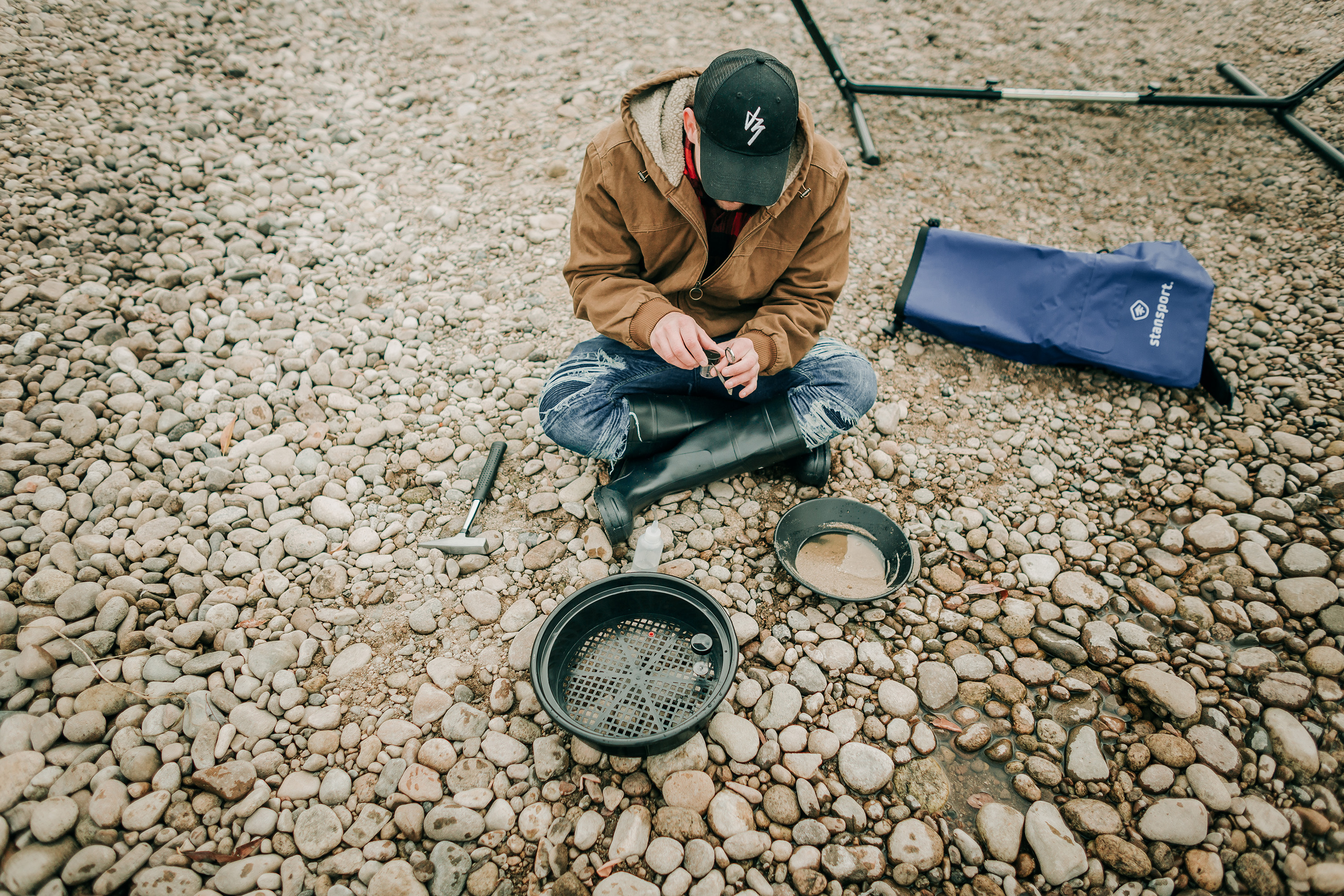 Stansport Yukon Deluxe Gold Prospecting Kit with Pick