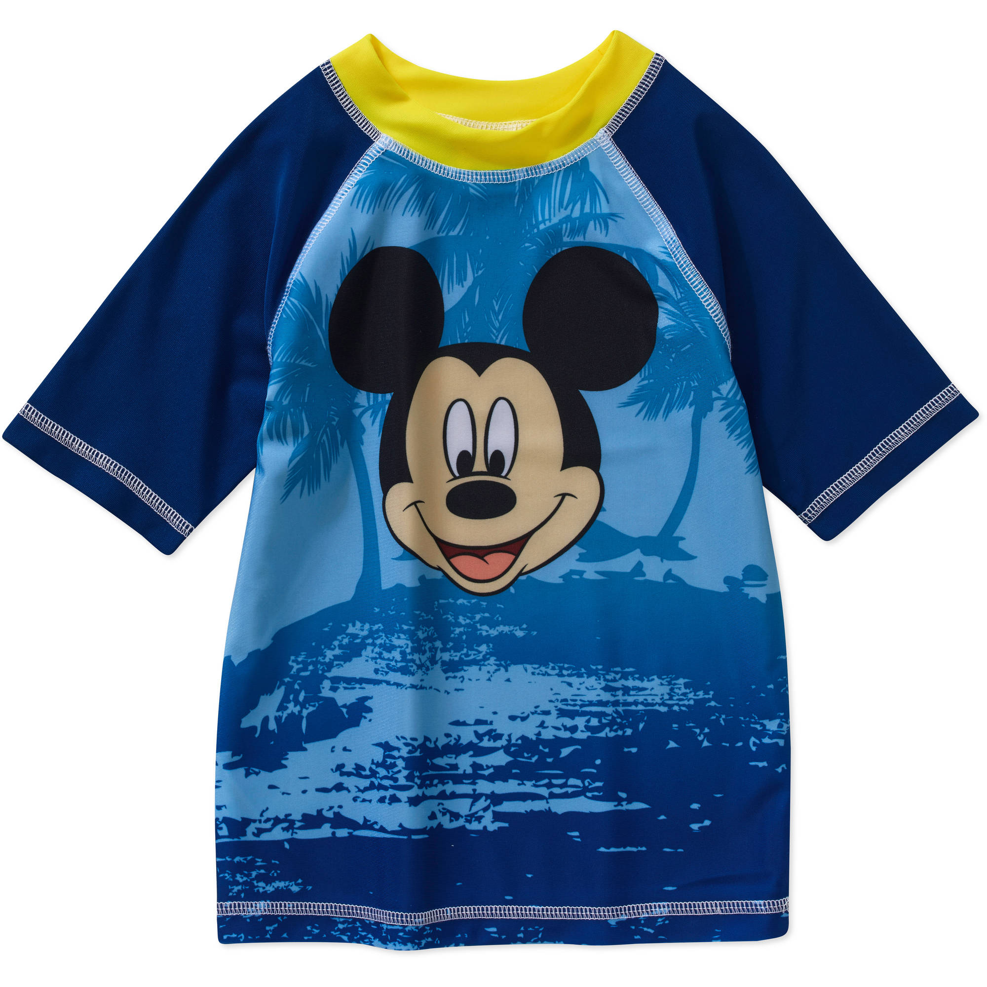 Mickey Mouse Toddler Boy Swimwear Rashguard Top