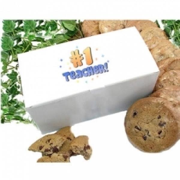 Teacher Cookie Gift Box 12 Gourmet Cookies by