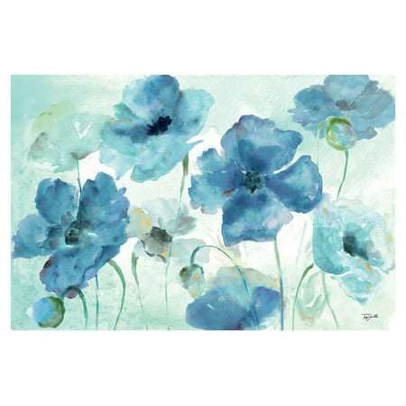 Beautiful Shades - Shades of Blue | Beautiful Watercolor-Style Blue Floral Print by Tre Sorelle Studios; One 18x12in Unframed Poster Prints