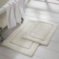 2 Pack Non-Slip Soft Cotton Bath Rug Set
