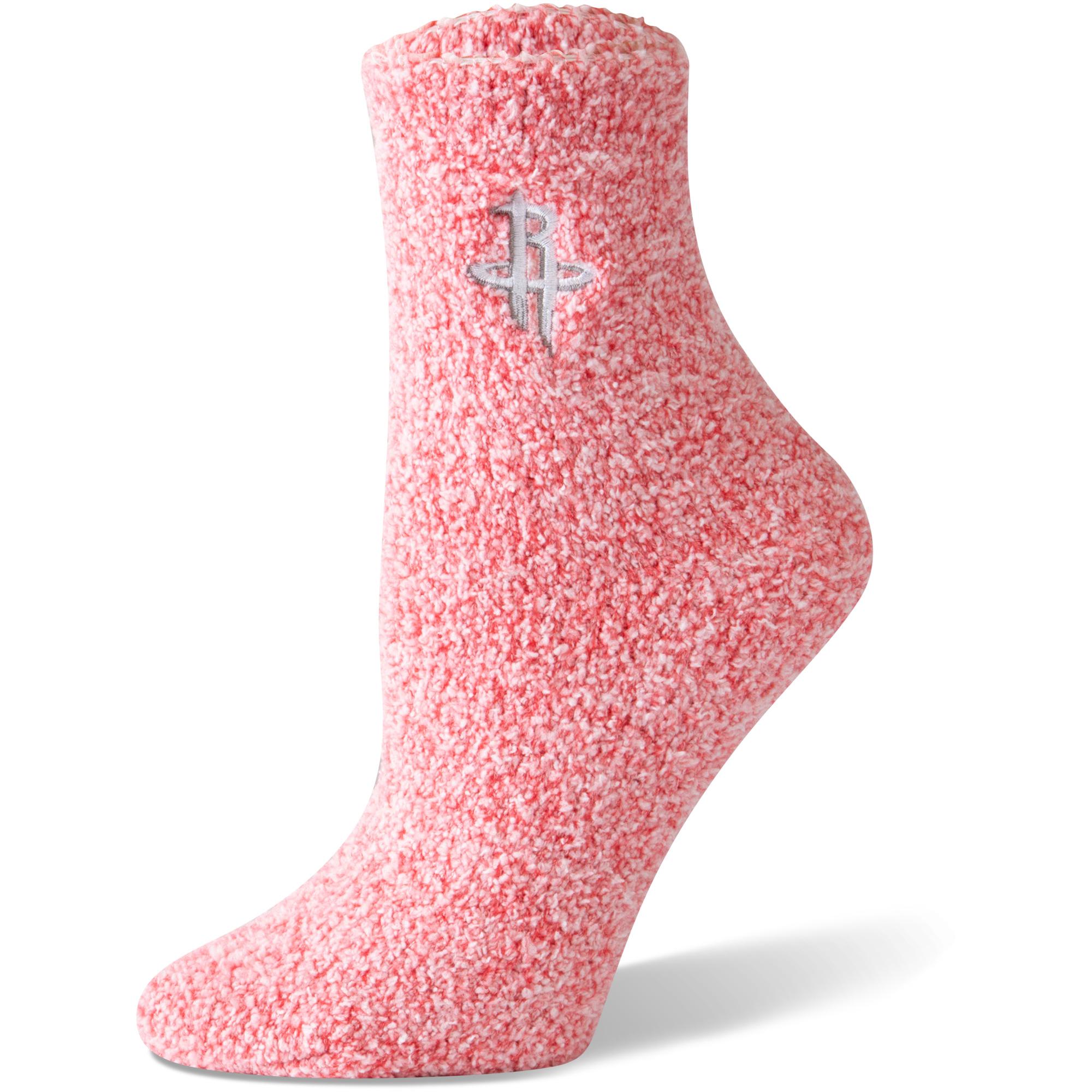 Houston Rockets Women's Fuzzy Block Tri-Blend Socks - Red - M